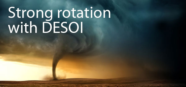 Strong rotation with DESOI
